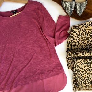 NWT J. Crew Mercantile Rose Solid Long Sleeve S